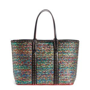 Christian Louboutin 'Cabata' Leather-Trimmed Tote